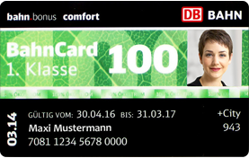 DB BahnCard 100 – Muster mit Passfoto